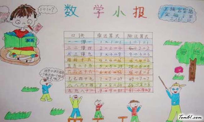 四年级数学手抄报版面设计图13
