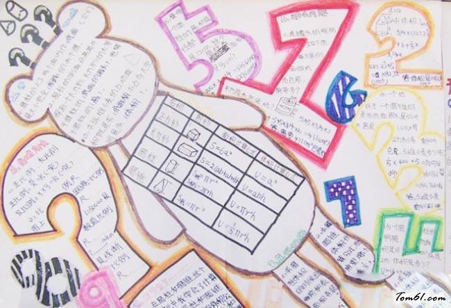 四年级趣味数学手抄报版面设计图9