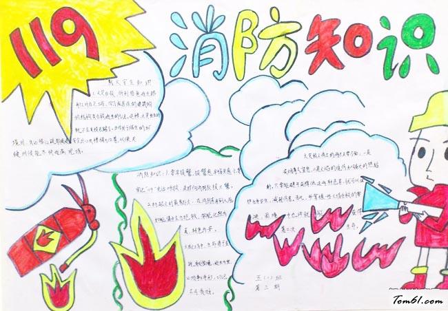 清明节森林防火手抄报版面设计图3图片