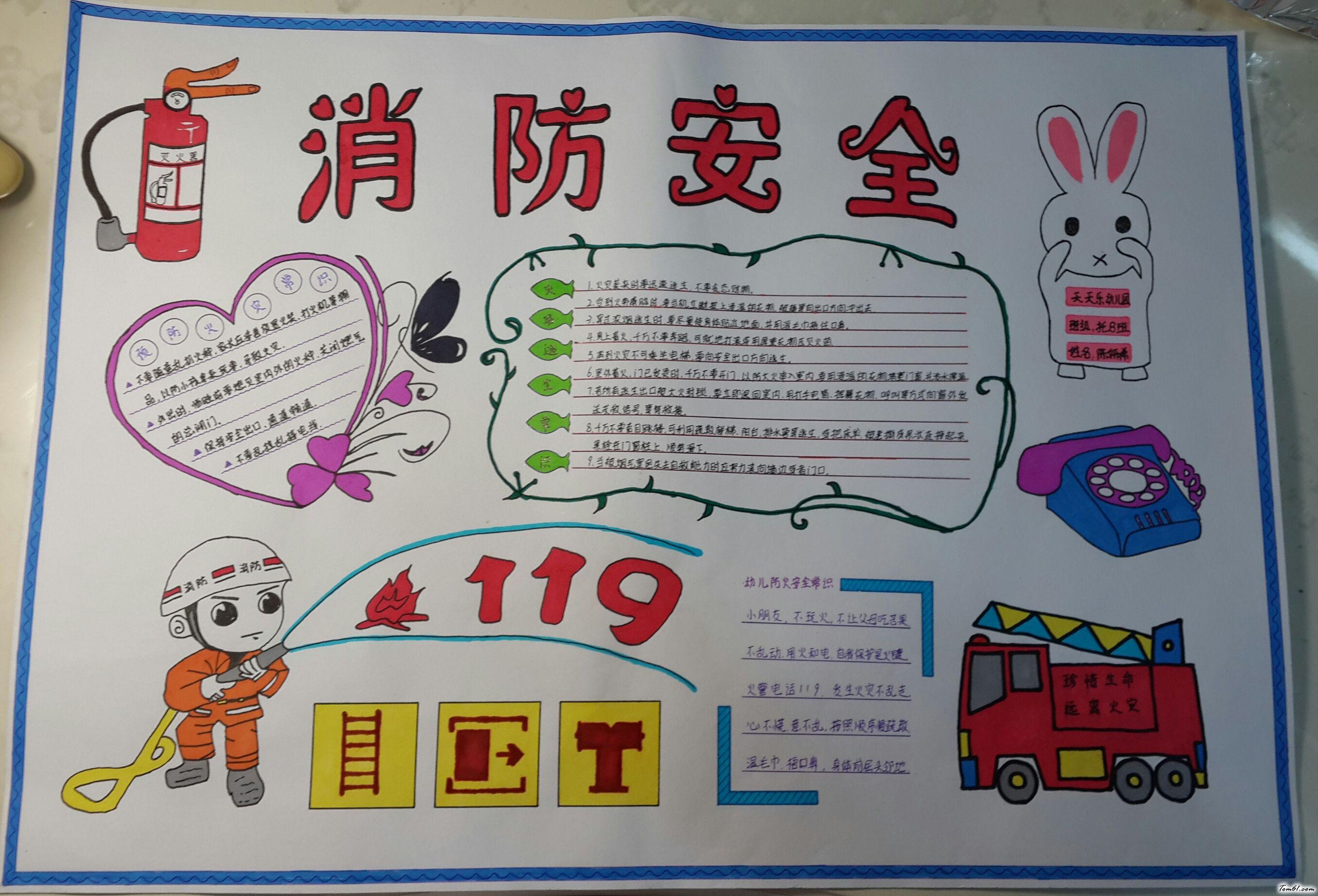消防安全手抄报版面设计图10