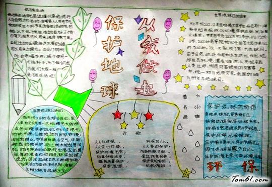 世界地球日手抄报版面设计图4
