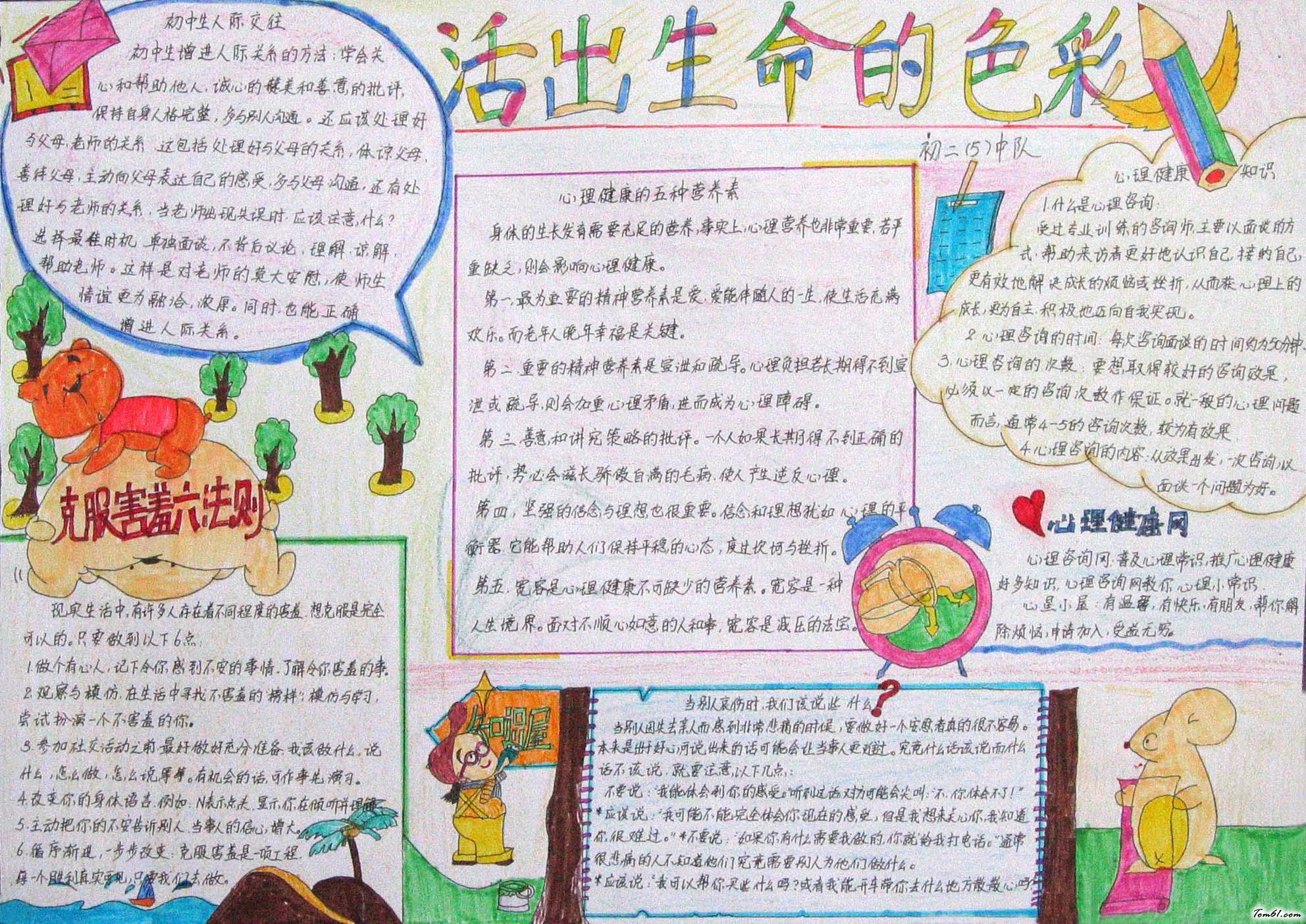 小学生健康手抄报版面设计图