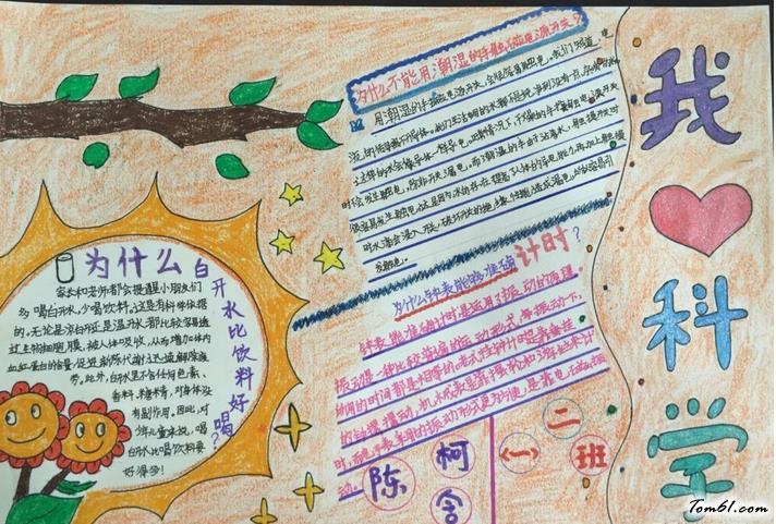 小学生我爱科学手抄报版面设计图