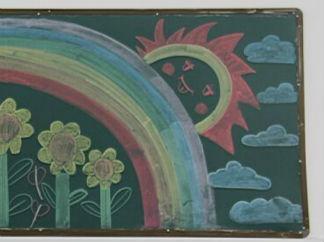 三月爱心奉献月黑板报版面设计图