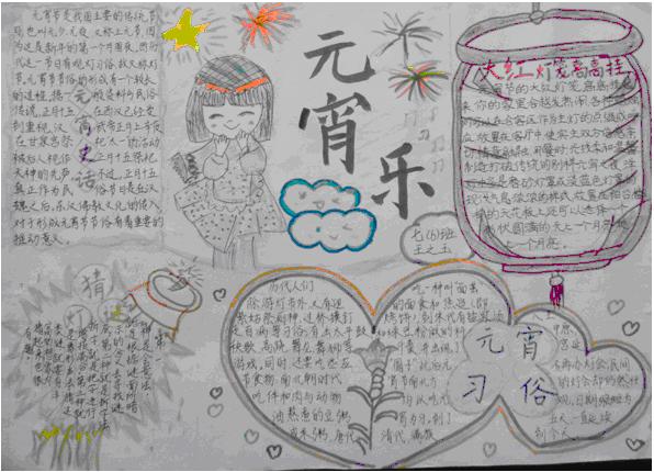 七年级元宵节手抄报版面设计图