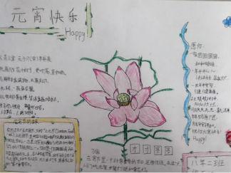 八年级简略版元宵手抄报版面设计图