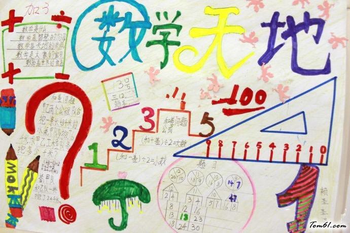 数学天地手抄报版面设计图6