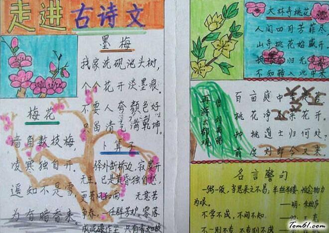 雪的古诗手抄报版面设计图2_手抄报大全_手工制作大全