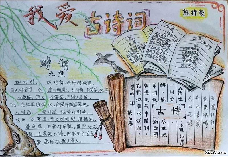 新年的诗词手抄报版面设计图6_手抄报大全_手工制作