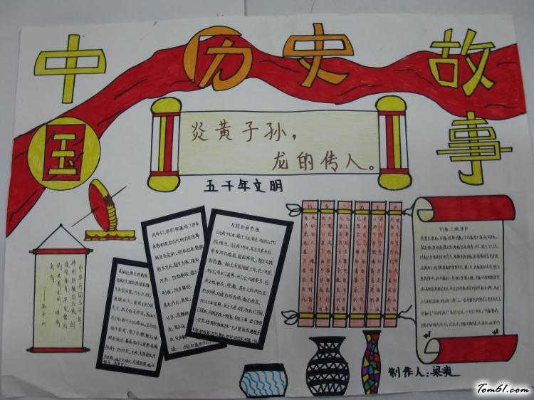 歷史手抄報版面設計圖2