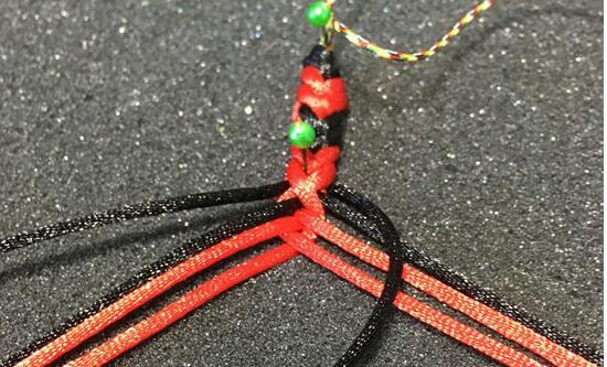 彩虹手链的编法和编织教程图片7