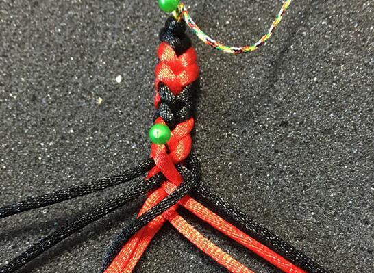 彩虹手链的编法和编织教程图片9