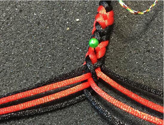 彩虹手链的编法和编织教程图片10