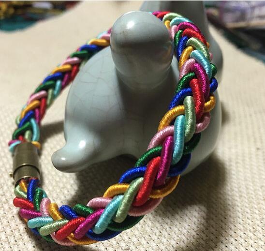 彩虹手链的编法和编织教程图片6