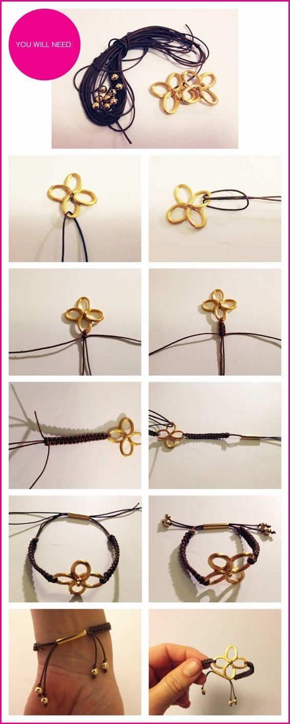 四叶草手链的编法和编织教程图片