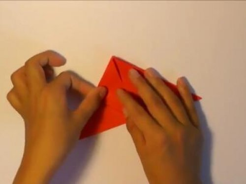 特别的玫瑰花折纸 简单的玫瑰花折纸教程图片4