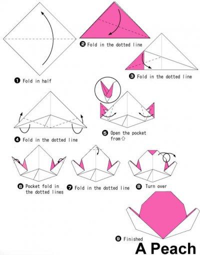 桃子折纸图解与方法教程