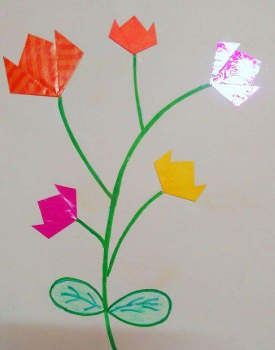 超简单的折纸小花 折纸花的步骤教程图片1
