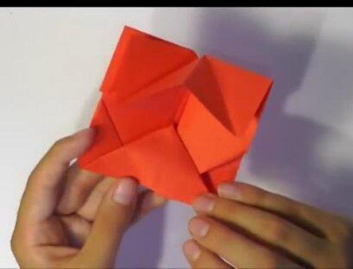 特别的玫瑰花折纸 简单的玫瑰花折纸教程图片9