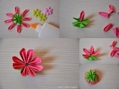 折纸花大全简单的图解之动人的樱花