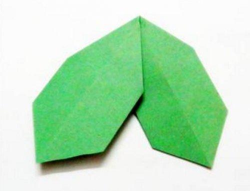 一片绿叶的折纸图解与方法教程_折纸大全_手工制作