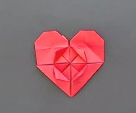 爱心信封的折纸图解与方法教程_折纸大全_手工制作