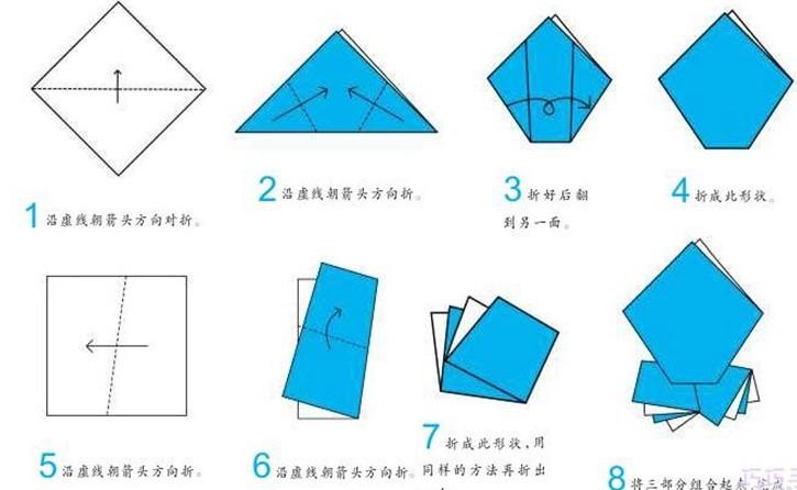 香蕉3的折纸图解与方法教程_折纸大全_手工制作大全