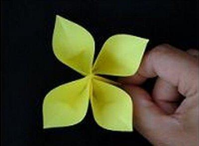 简单的四叶草折纸教程图片