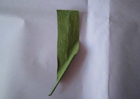 纸玫瑰叶子折纸图解与方法教程_折纸大全_手工制作
