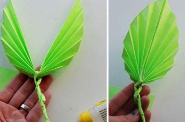 褶皱叶子的折纸图解与方法教程_折纸大全_手工制作
