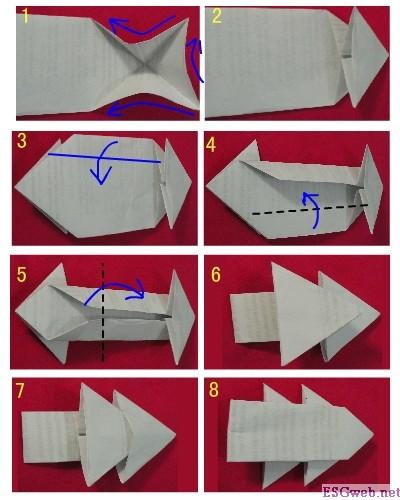 简单的圣诞树折纸图解与方法教程