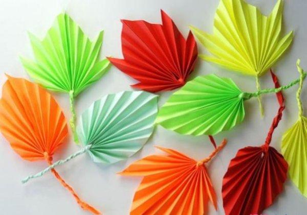 纸树叶手工制作