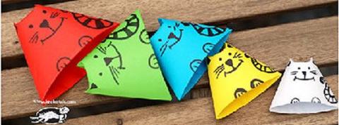 简单立体猫咪折纸图解与方法教程