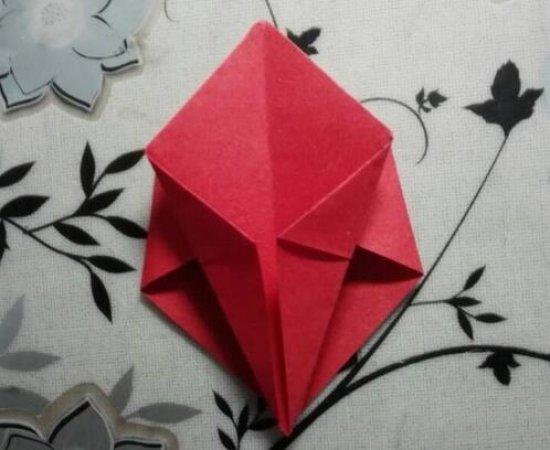 美丽的川崎玫瑰折纸图解与方法教程