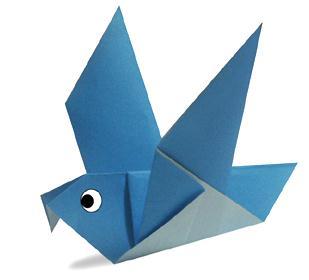 鸽子简单折纸图解教程