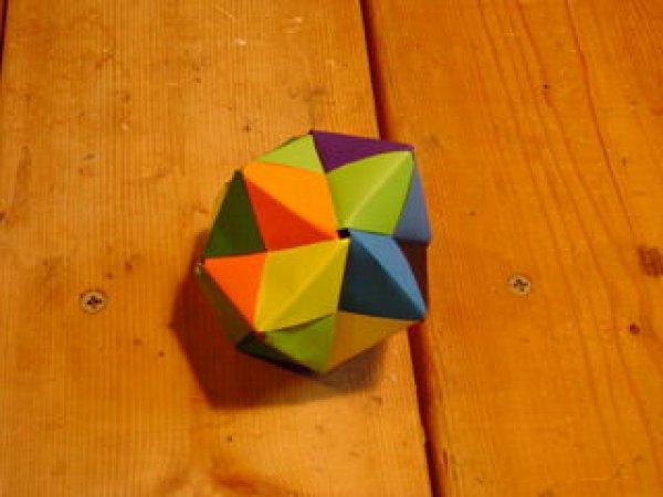 立体花球的折纸图解与方法教程_折纸大全_手工制作