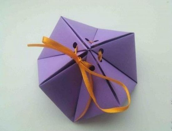 糖果礼盒怎么折,礼物盒折纸图解在线分享