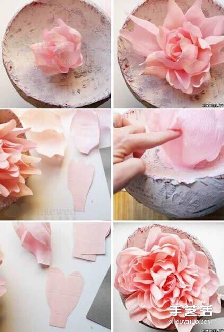 大型皱纸花的做法步骤图解图片9