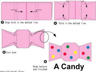 糖果的折纸图解与方法教程