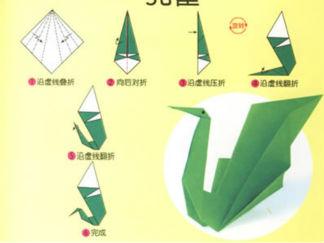 孔雀5的折纸图解与方法教程