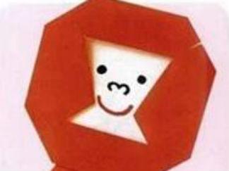 快乐的大猩猩的折纸图解与方法教程