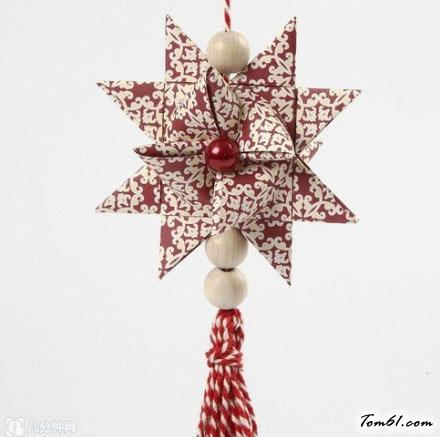 纸编花球吊饰的折纸图解与方法教程