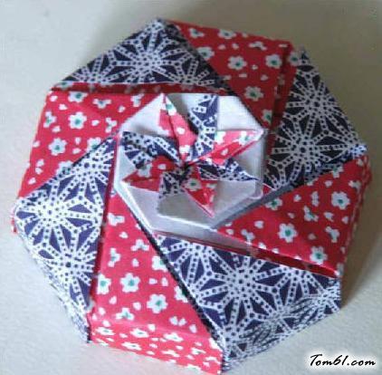 八边形折纸礼品盒的折纸图解与方法教程