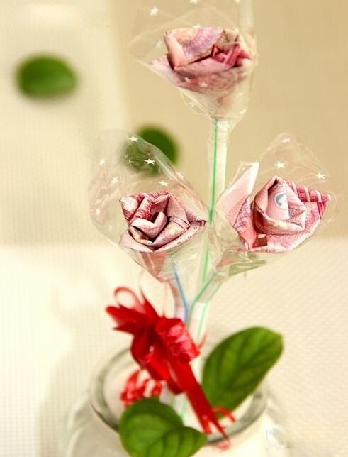 大鈔玫瑰的折紙圖解與方法教程