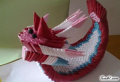 三角插龍舟的折紙圖解與方法教程
