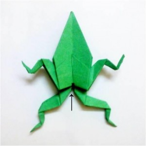 青蛙的折紙圖解與方法教程2