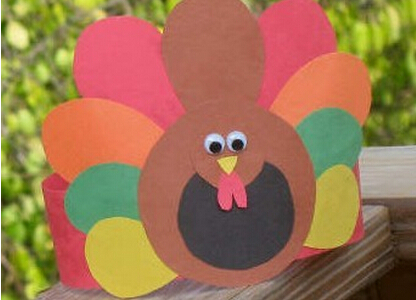 火雞頭飾感恩節賀卡的手工制作教程圖解