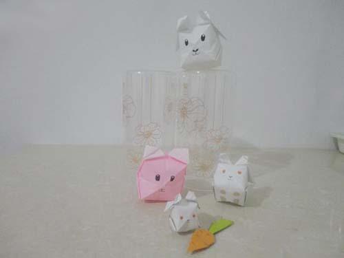 立體小白兔的折紙圖解與方法教程