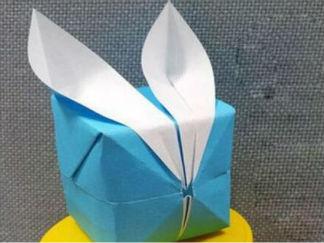 兔子耳朵禮品盒的手工制作教程圖解