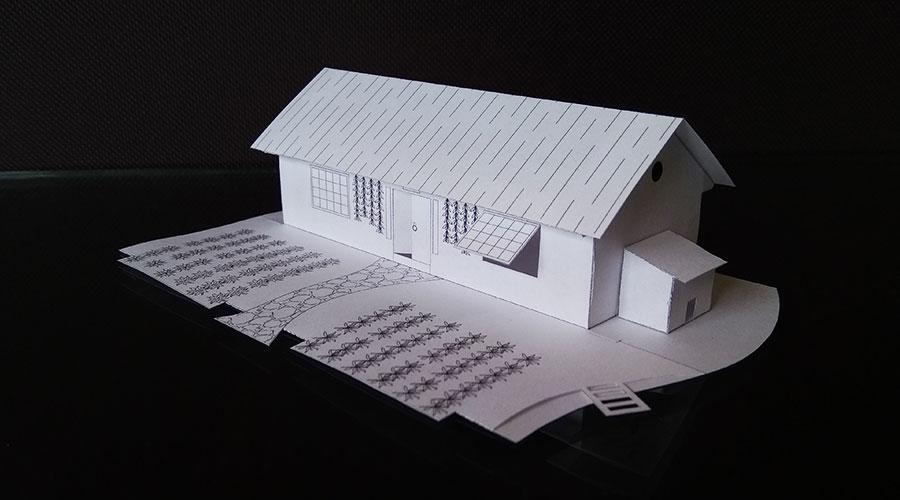 一張A4紙折田園農家的折紙圖解與方法教程